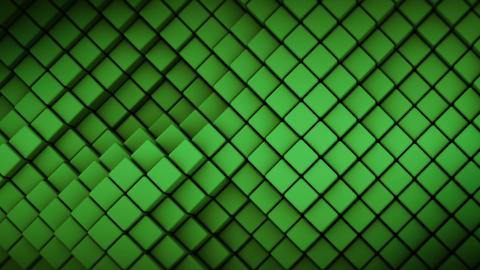 Wall of green rhombus shapes abstract seamless loop 3D render animation Animation