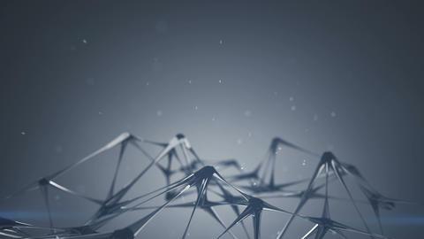Glass plexus structure 3D render seamless loop animation Animation