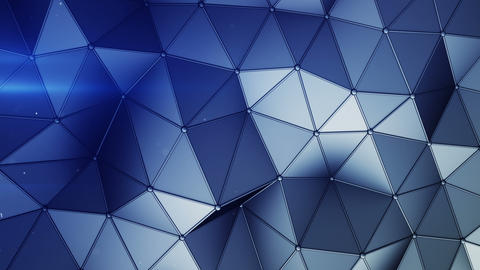 Blue construction with lines and low poly shape seamless loop 3D animation Animation