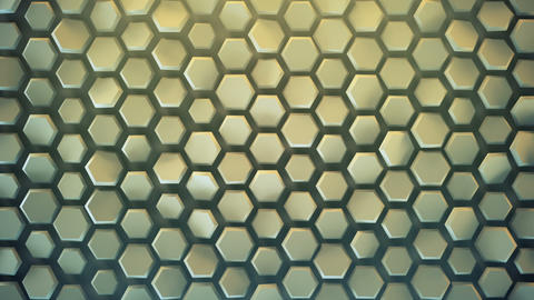 Hexagonal background seamless loop abstract 3D animation Animation