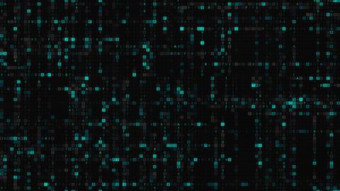 Big data of blue hexadecimal digit code seamless loop animation Animation