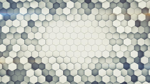 Hexagonal cells wall seamless loop abstract 3D animation Animation