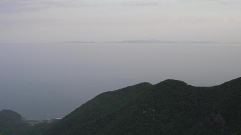 鶯の泣き声と佐渡島 ビデオ