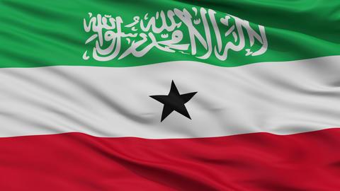 Close Up Waving National Flag of SomaliLand (Somalia) Animation