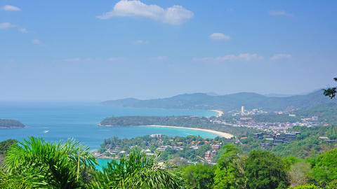 Kata and Karon beaches, Phuket, timelapse Footage