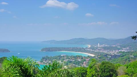 Kata and Karon beaches, Phuket, timelapse Footage