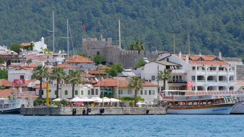 MARMARIS, TURKEY - MAY 2015: Daily life Summer Travel Destination Live Action