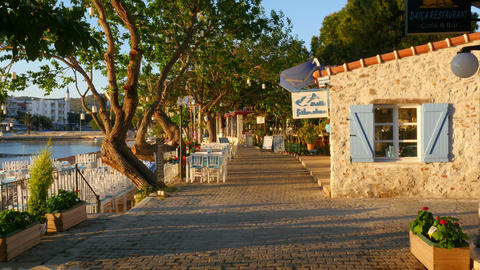 DATCA, TURKEY - MAY 2015: Daily life Summer Travel Destination Live Action