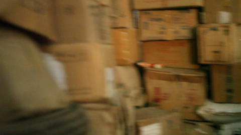 Store Room Interior stock footage