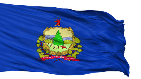 Isolated Waving National Flag of Vermont Animation