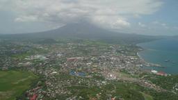 Legazpi city in the Pihilippines, Luzon 영상물