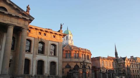 Oxford- Sheldonian Theatre on Broad Street GIF