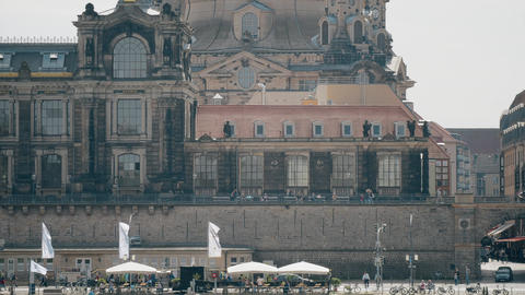 DRESDEN, GERMANY - MAY 2, 2018. Frauenkirshe or Church of Our Lady telephoto 영상물