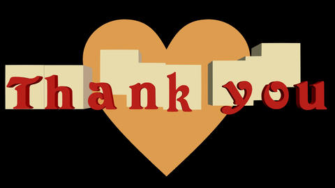 Thank You Banner Animated Inscription Outro 0