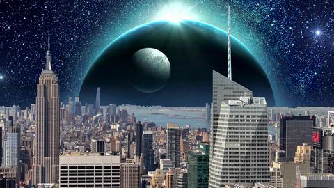 Fantasy New York City Animation. Apocalypse of New York.…, Stock Animation