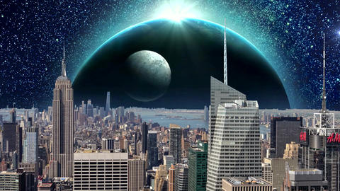 Fantasy New York City Animation. Apocalypse of New York. Ver. 06 Animation