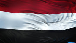 YEMEN Realistic Waving Flag Background Fotografía