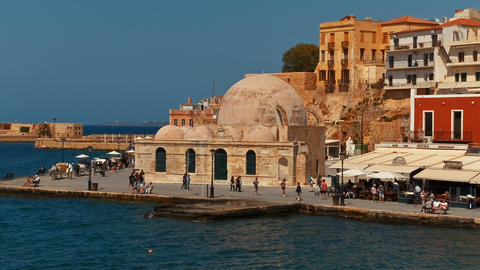 Chania Old Town, Crete, Greece 影片素材