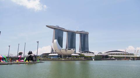 Hyperlapse Marina Bay Sand Singapore Archivo