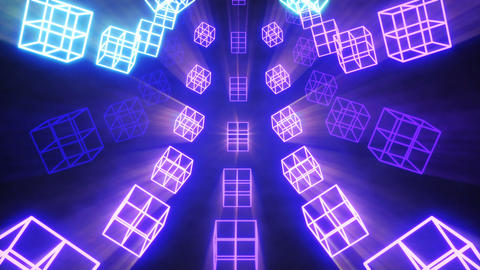Vj cubes Glowing with shine 動畫