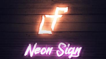 Neon Sign Intro After Effects Template