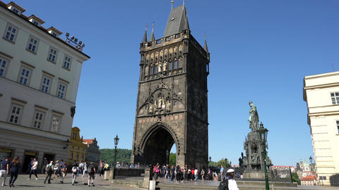 Old Town Bridge tower in Prague 影片素材