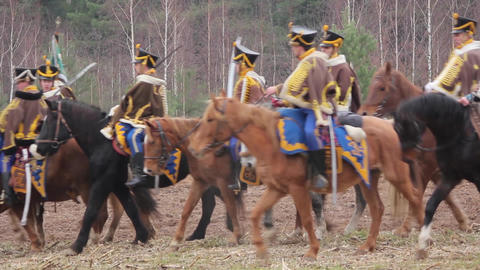 war of 1812, the Russian cavalry, hussars Live Action