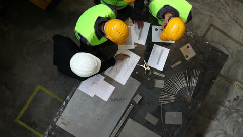 Workers and manager with documents Footage