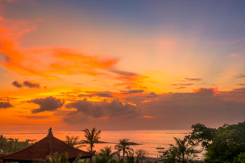 Sunset over the Beach of Bali Photo