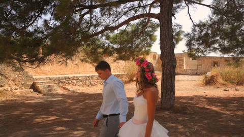 Wedding photosession of the newlyweds in Greece 영상물