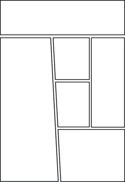 comic storyboard template layout Vector