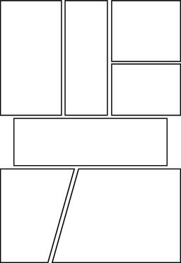 comic storyboard with six blank grid Vector