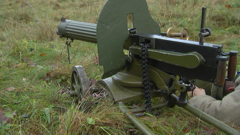 the Maxim machine gun and killed the gunner Footage