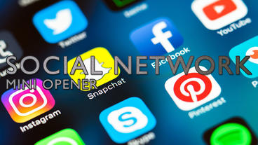 Mini Social Network Opener Apple Motion Template