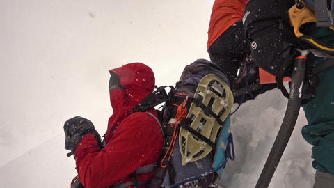 Climber Resting On A Glacier ビデオ