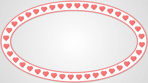 Heart romantic love red white background ellipse frame GIF