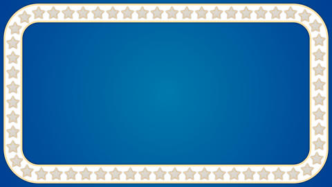 Stars blue background rectangle border frame Animation