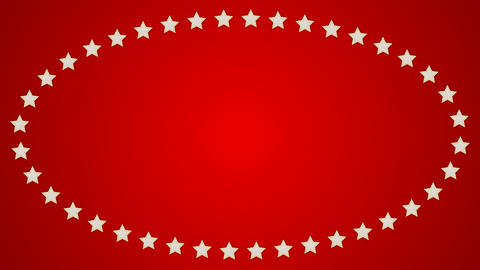 Stars red background ellipse border frame CG動画素材