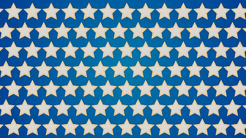Stars blue background traffic horisontal Animation