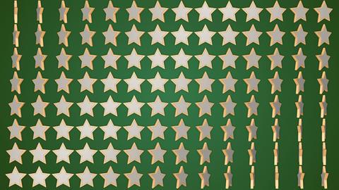 Rotating stars green background Animation