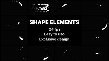 Cartoon Liquid Shapes After Effects Template