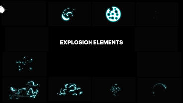 Energy Explosion Elements After Effectsテンプレート