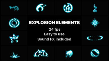 Energy Explosion Elements After Effects Template