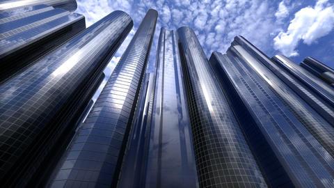 City of skyscrapers loop GIF