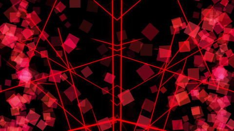 cube particle_red_background Animation
