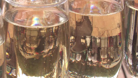 champagne in glasses Footage