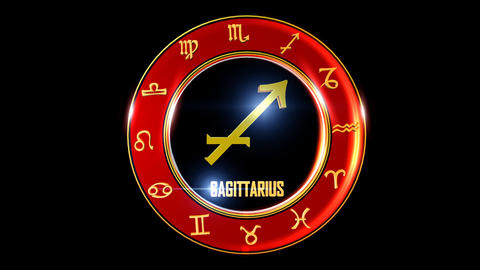 SAGITTARIUS Zodiac sign It`s Nice rotating 3d golden Zodiac sign (Western Animation