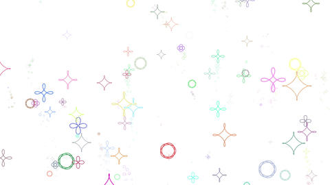 geometric pattern particles_colorful white background_loop_high speed CG動画