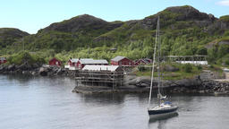 Norway Lofoten islands Flakstadøy Nusfjord small settlement an bay GIF
