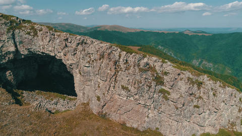 Aerial Krali Marko's Hole -Bulgaria is near to Dobrila and Ambaritza huts 영상물